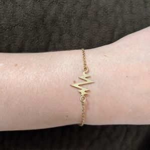 Bryan Anthony Gold There In A Heartbeat Bracelet